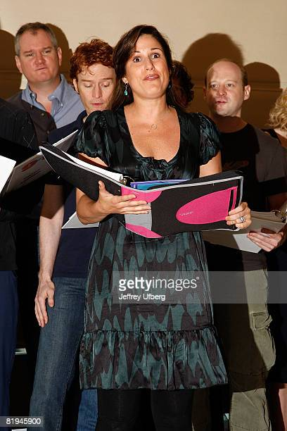 Actress Stephanie J Block attends the press conference for 9 To 5 The Musical at the New 42nd Street Studios on July 15 2008 in New York City