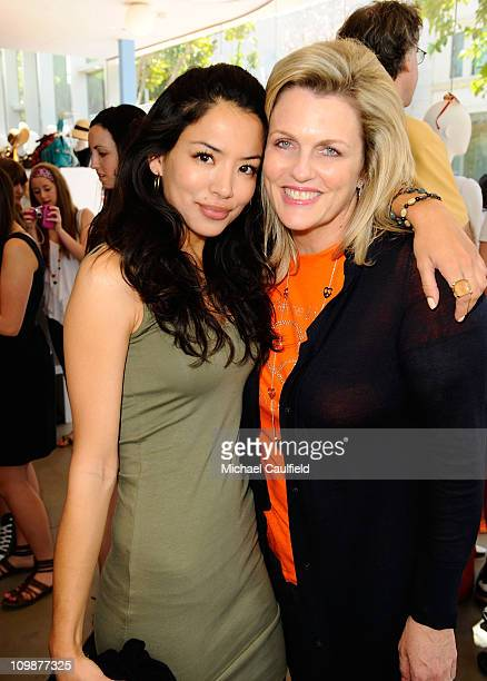 Actress Stephanie Jacobsen and Nancy Davis attend the Race To Erase MS fundraiser held at Kitson on Melrose to kick off May as multiple sclerosis...