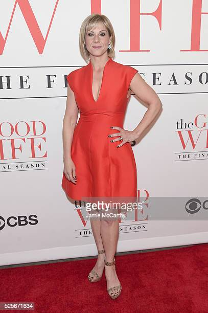 Actress Stephanie Kurtzuba attends The Good Wife Finale Party at Museum of Modern Art on April 28 2016 in New York City
