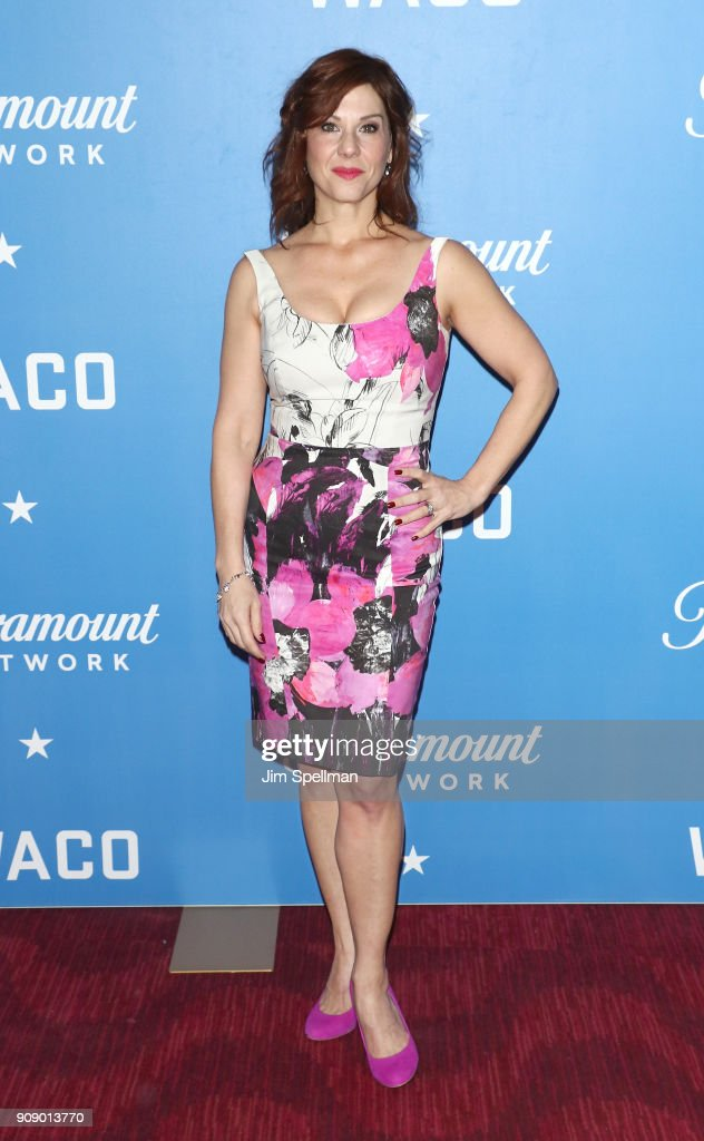 Actress Stephanie Kurtzuba attends the 'Waco' world premiere at Jazz at Lincoln Center on January 22, 2018 in New York City.