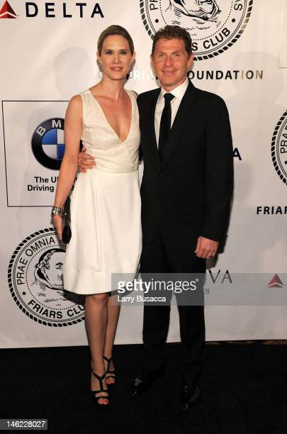 Actress Stephanie March and chef Bobby Flay attend The Friars Club and Friars Foundation Honor of Tom Cruise at The Waldorf=Astoria on June 12 2012...