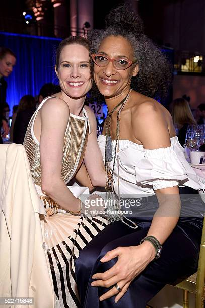 Actress Stephanie March and Chef Carla Hall attend the Food Bank Of New York City's Can Do Awards 2016 hosted by Mario Batali at Cipriani Wall Street...