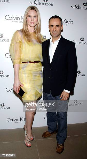 Actress Stephanie March and fashion designer Francisco Costa attend the Safe Horizon Benefit kick off reception at the Calvin Klein Collection on...