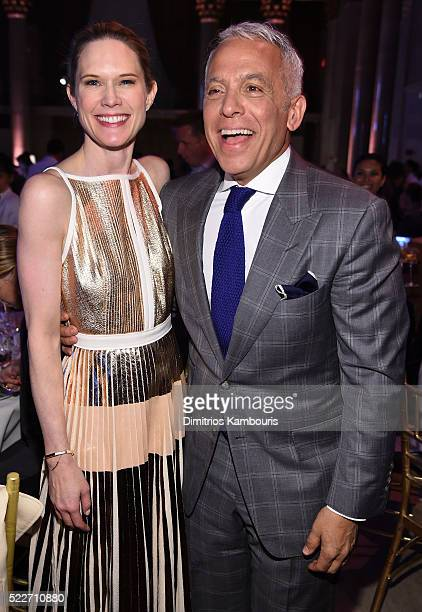 Actress Stephanie March and Geoffrey Zakarian of Chopped attend the Food Bank Of New York City's Can Do Awards 2016 hosted by Mario Batali at...