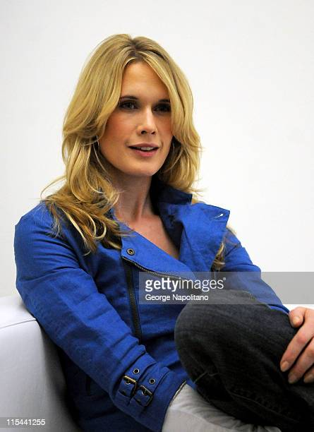 Actress Stephanie March attends a photo shoot for the Creative Coalition's Arts Funding Awareness PSA at Splashlight Studios on March 19 2009 in New...