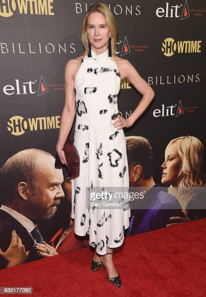 Actress Stephanie March attends the 'Billions' Season 2 premiere at Cipriani 25 Broadway on February 13 2017 in New York City
