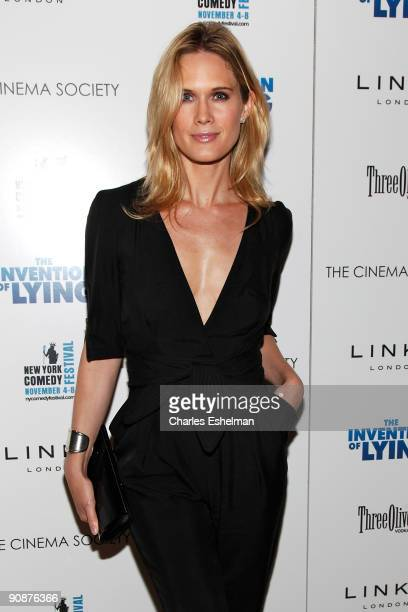 Actress Stephanie March attends The Cinema Society and Links of London's screening of 'The Invention Of Lying' at the Tribeca Grand Screening Room on...