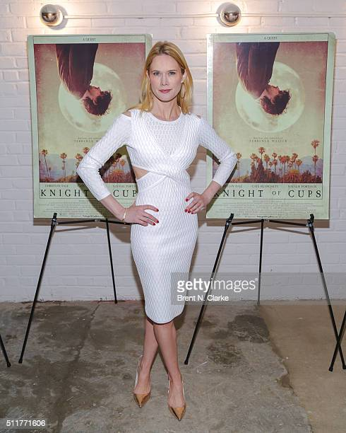 Actress Stephanie March attends the 'Knight of Cups' New York screening held at Metrograph on February 22 2016 in New York City