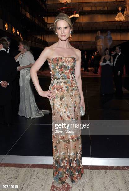 Actress Stephanie March attends the New York City Opera's Spring Gala and Opera Ball at the David H Koch Theater Lincoln Center on March 18 2010 in...