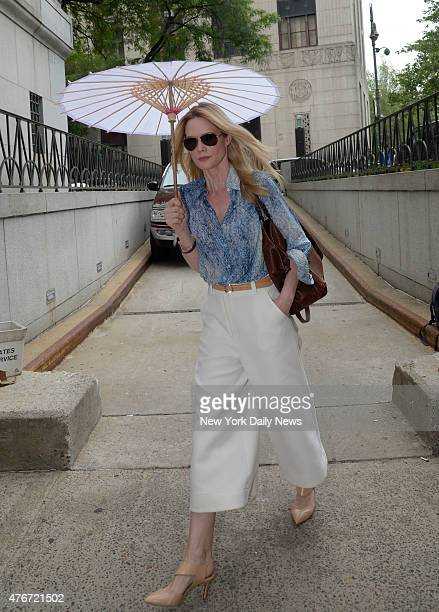 Actress Stephanie March enters Manhattan Supreme Court on Thursday June 11 2015 She is involved in a divorce proceeding with the celebrity chef Bobby...