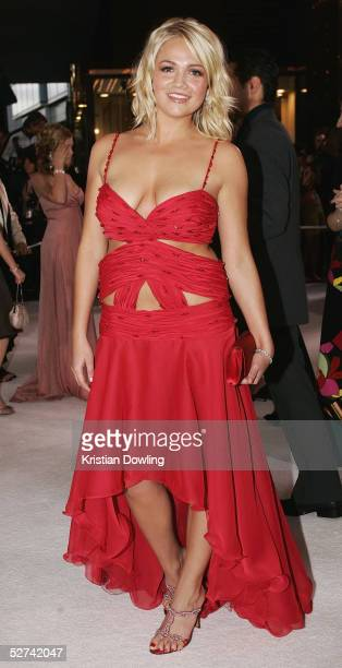 Actress Stephanie McIntosh arrives at the 47th Annual TV Week Logie Awards at the Crown Entertainment Complex May 1 2005 in Melbourne Australia