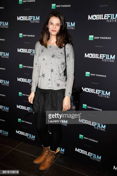 Actress Stephanie Pasterkamp attends Mobile Film Festival 2018 at Mk2 Bibliotheque on March 13 2018 in Paris France