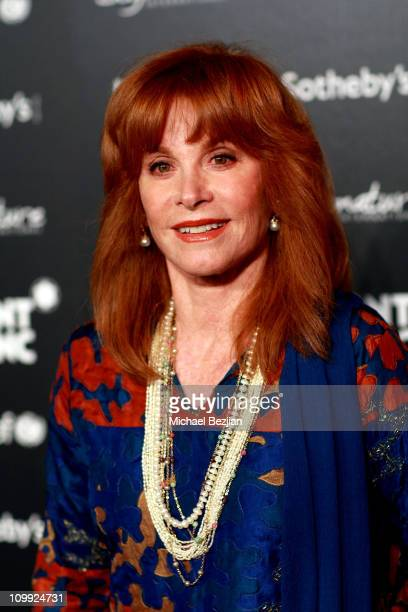 Actress Stephanie Powers arrives at the Charity Auction Gala to benefit UNICEF hosted by Montblanc at the Beverly Wilshire Four Seasons Hotel on...