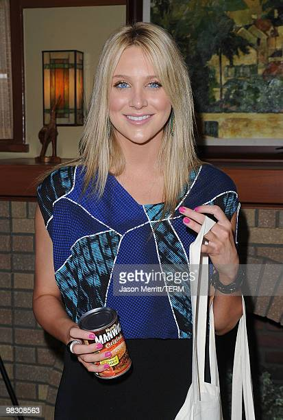 Actress Stephanie Pratt attends the celebrity rally on ABC's Wisteria Lane to raise awareness about child hunger on April 7 2010 in Universal City...