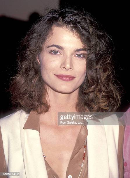Actress Stephanie Romanov attends the Welcome to Wellville Westwood Premiere on October 9 1994 at Avco Center Cinemas in Westwood California
