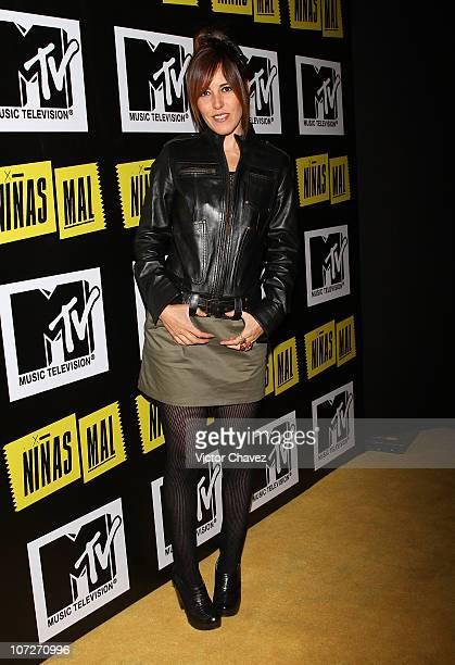 Actress Stephanie Salas attends the MTV Niñas Mal soap opera party at Ragga Antara Polanco on December 1 2010 in Mexico City Mexico