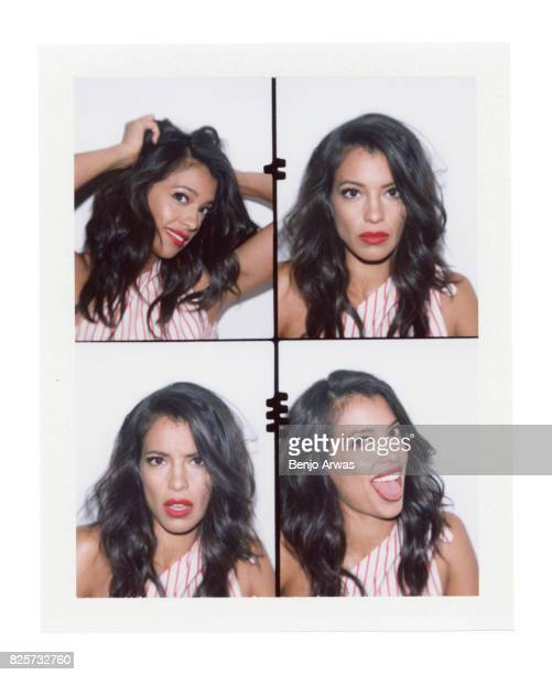 Actress Stephanie Sigman of CBS's 'SWAT' is photographed on polaroid film during the 2017 Summer Television Critics Association Press Tour at The...