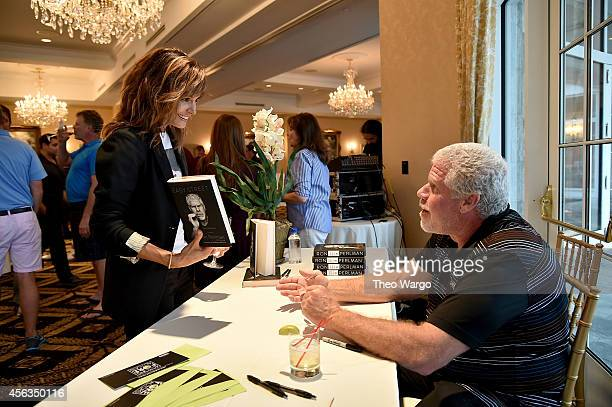 Actress Stephanie Szostak and actor Ron Perlman attend Screen Actors Guild Foundation 2nd Annual New York Golf Classic at Trump National Golf Club...