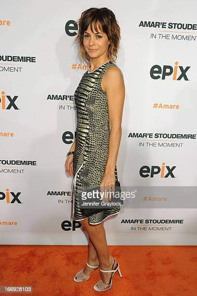 Actress Stephanie Szostak attends EPIX premiere of Amar'e Stoudemire IN THE MOMENT on April 18 2013 in New York City