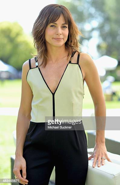 Actress Stephanie Szostak attends NBCUniversal's Summer Press Day at Langham Hotel on April 8 2014 in Pasadena California