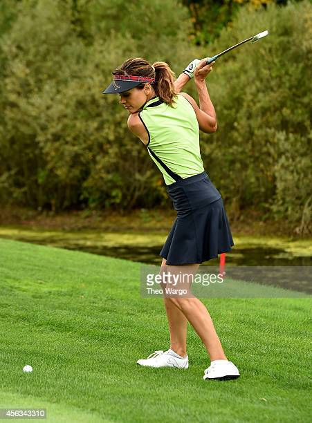 Actress Stephanie Szostak attends Screen Actors Guild Foundation 2nd Annual New York Golf Classic at Trump National Golf Club Westchester on...