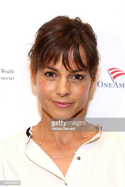 Actress Stephanie Szostak attends the 'Night Before Event' at 54 Below on October 6 2013 in New York City