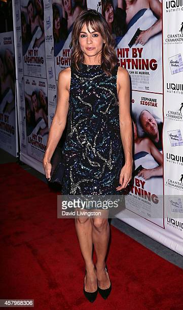 Actress Stephanie Szostak attends the premiere of Hit by Lightning at ArcLight Hollywood on October 27 2014 in Hollywood California