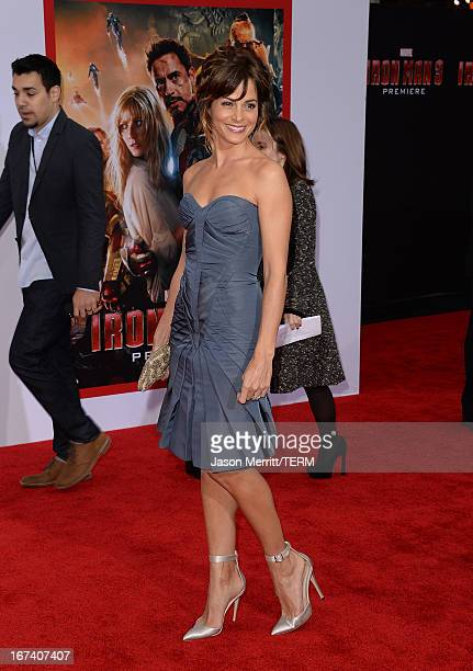 Actress Stephanie Szostak attends the premiere of Walt Disney Pictures' 'Iron Man 3' at the El Capitan Theatre on April 24 2013 in Hollywood...