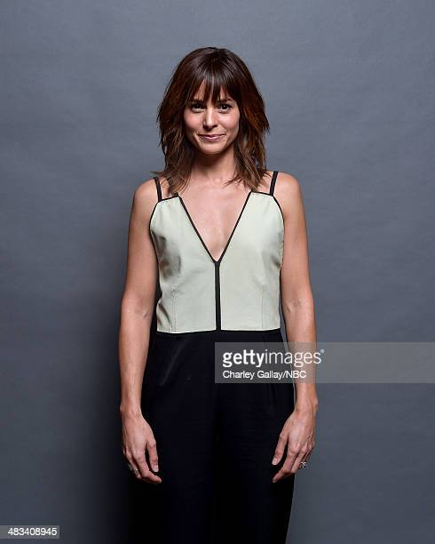 Actress Stephanie Szostak poses for a portrait during the 2014 NBCUniversal Summer Press Day at The Langham Huntington on April 8 2014 in Pasadena...