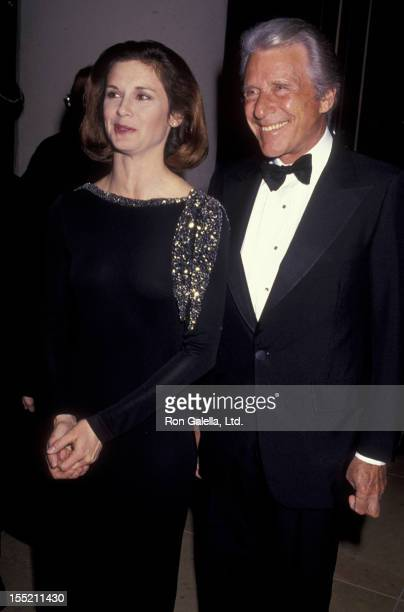 Actress Stephanie Zimbalist and actor Efrem Zimbalist Jr attend 48th Annual Golden Globe Awards on January 19 1991 at the Beverly Hilton Hotel in...