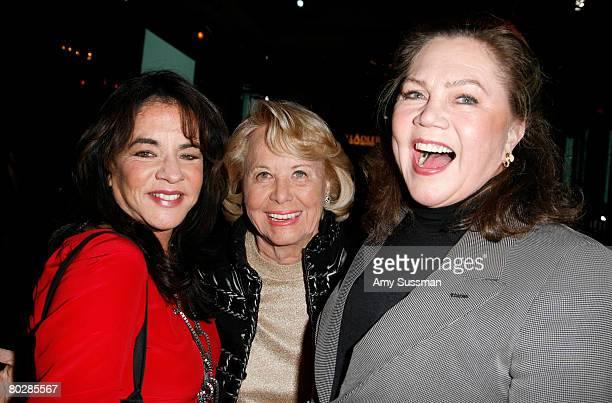 Actress Stockard Channing columnist Liz Smith and actress Kathleen Turner attend the Stella Adler Studio fourth annual Stella by Starlight benefit...
