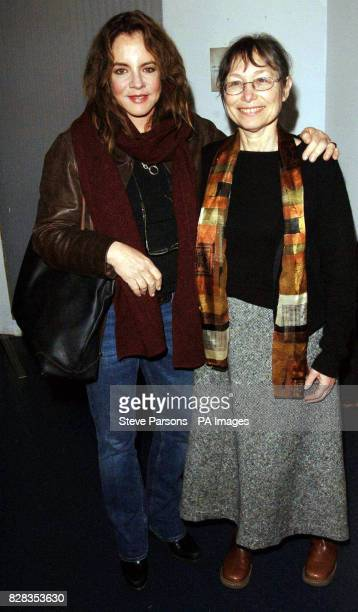 Actress Stockard Channing with Sonia 'Sunny' Jacobs during the afterparty for new play 'The Exonerated' at the Riverside Studios Hammersmith west...