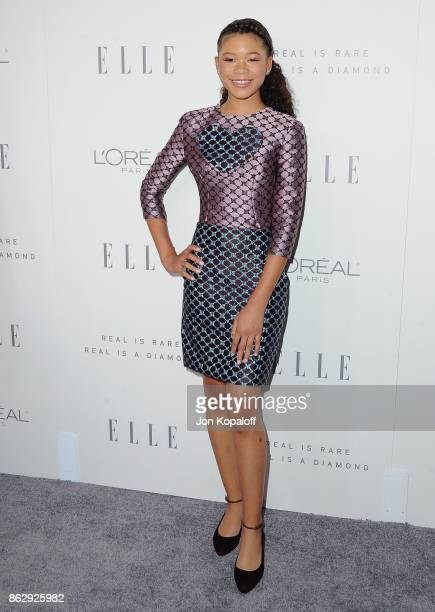 Actress Storm Reid arrives at ELLE's 24th Annual Women in Hollywood Celebration at Four Seasons Hotel Los Angeles at Beverly Hills on October 16 2017...