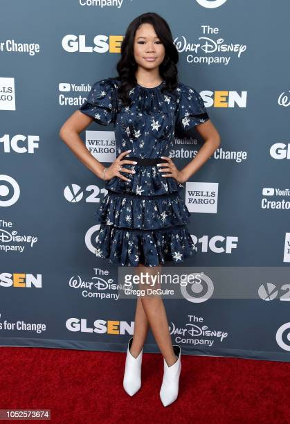 Actress Storm Reid arrives at the GLSEN Respect Awards at the Beverly Wilshire Four Seasons Hotel on October 19 2018 in Beverly Hills California
