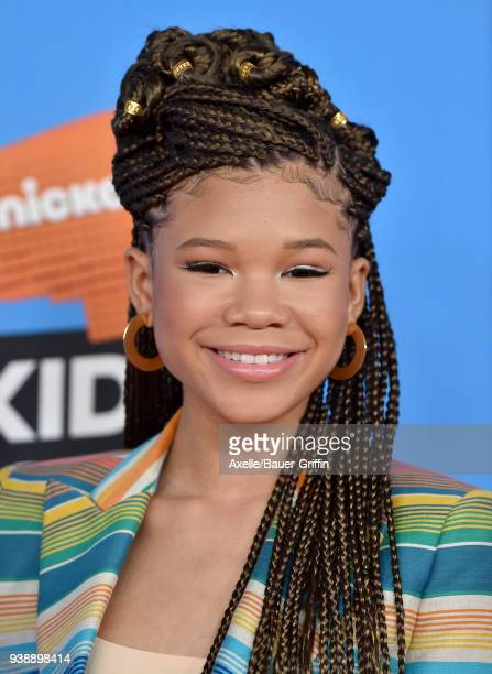 Actress Storm Reid attends Nickelodeon's 2018 Kids' Choice Awards at The Forum on March 24 2018 in Inglewood California