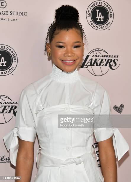 Actress Storm Reid attends The LadyLike Foundation's 11th Annual Women of Excellence Luncheon at The Beverly Hilton Hotel on May 11, 2019 in Beverly...