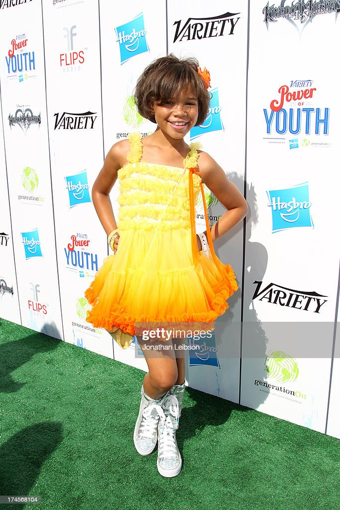 Actress Storm Reid attends Variety's Power of Youth presented by Hasbro, Inc. and generationOn at Universal Studios Backlot on July 27, 2013 in Universal City, California.