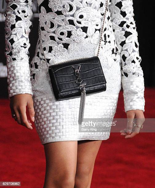 Actress Storm Reid purse detail attends the premiere of Walt Disney Pictures and Lucasfilms' 'Rogue One A Star Wars Story' at the Pantages Theatre on...