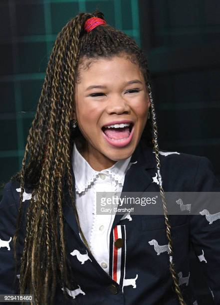 Actress Storm Reid visits Build Series to discuss the film A Wrinkle in Time at Build Studio on March 8 2018 in New York City