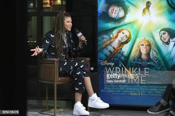 Actress Storm Reid visits Build Series to discuss the film ' A Wrinkle in Time' at Build Studio on March 8 2018 in New York City