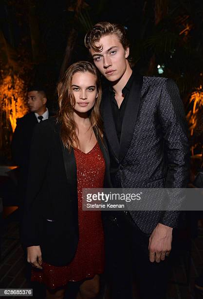 Actress Stormi Henley and model Lucky Blue Smith attend the 2016 GQ Men of the Year Party at Chateau Marmont on December 8 2016 in Los Angeles...