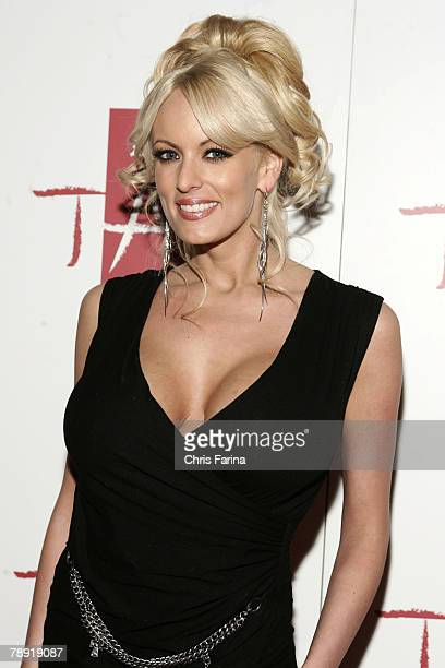Actress Stormy Daniels arrives at a naughty night to remember at TAO Nightclub at The Venetian Hotel and Casino Resort on January 12 2008 in Las...