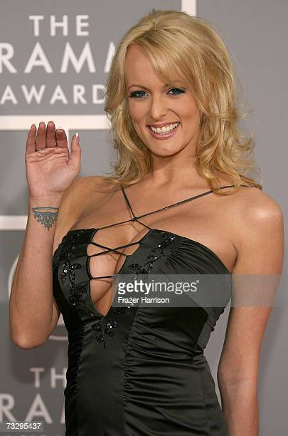 Actress Stormy Daniels arrives at the 49th Annual Grammy Awards at the Staples Center on February 11 2007 in Los Angeles California