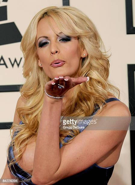 Actress Stormy Daniels arrives to the 50th Annual GRAMMY Awards at the Staples Center on February 10 2008 in Los Angeles California
