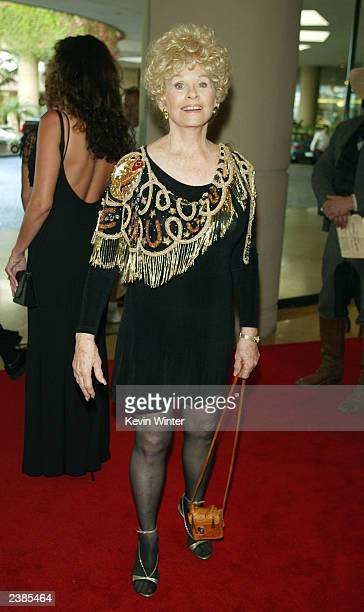 Actress Sue Ane Langdon arrives at the 21st Annual Golden Boot Awards at the Beverly Hilton Hotel on August 9 2003 in Beverly Hills California