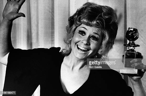 Actress Sue Ane Langdon attends 29th Annual Golden Globe Awards on February 6 1972 at the Beverly Hilton Hotel in Beverly Hills California