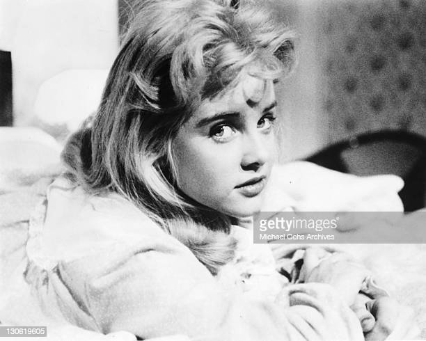 Actress Sue Lyon poses for a portrait in a scene from the movie Lolita which was released in 1962