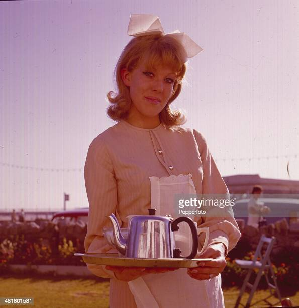 Actress Sue Nicholls in character as 'Marilyn Gates' in a scene from the television soap opera 'Crossroads' in 1968.