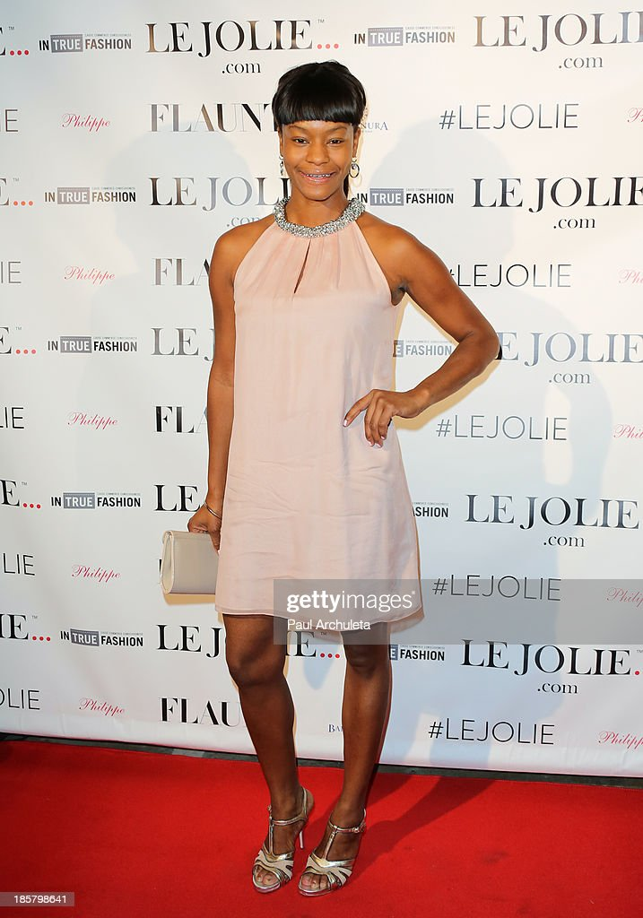 Actress Sufe Bradshaw attends the LeJolie.com launch party at No Vacancy Night Club on October 24, 2013 in Los Angeles, California.