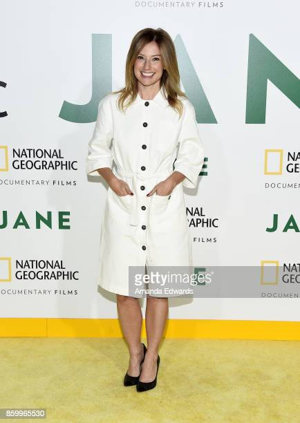 Actress Sugar Lyn Beard arrives at the premiere of National Geographic Documentary Films' Jane at the Hollywood Bowl on October 9 2017 in Hollywood...
